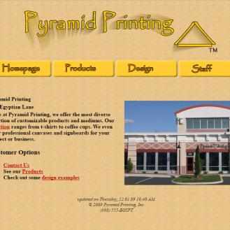 Pyramid Printing homepage