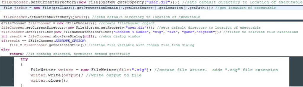 File IO code