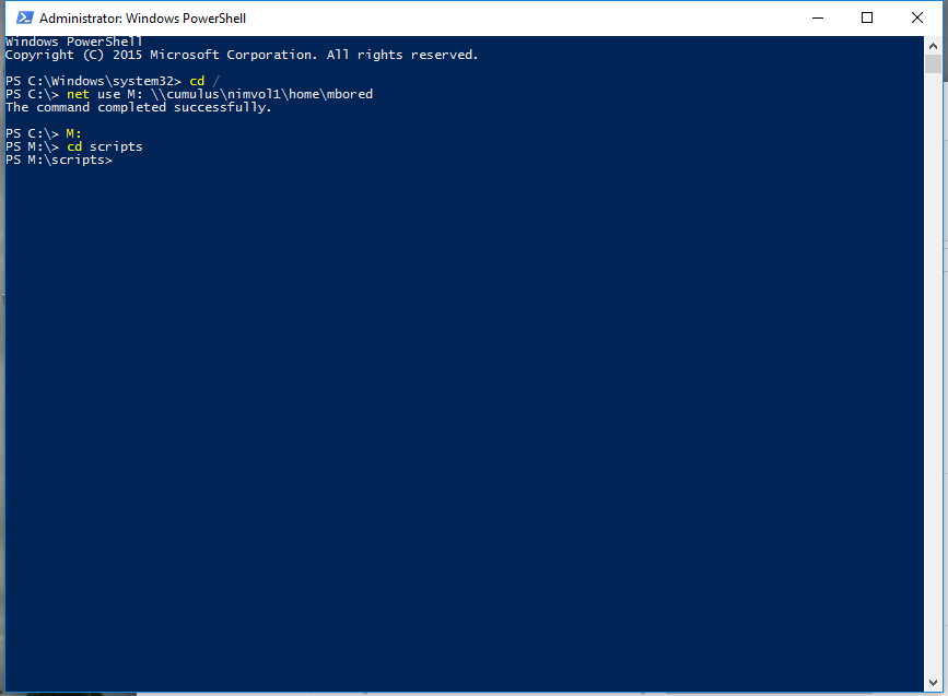 Powershell - remap drive for admin